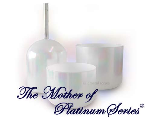 Bols de Cristal chantants Alchimiques avec Platine Mother of Platinum